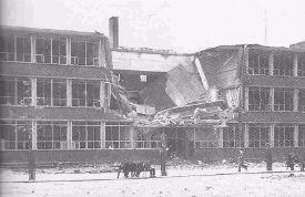 De lts aan de Gordelweg bleef in 1940 ook niet gespaard voor het oorlogsgeweld