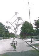 Het Atomium van Wereldtentoonstelling in 1958