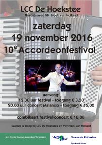 Accordeonfestival en Malando orkest